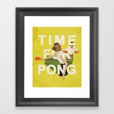 Time For Pong Framed Art Print