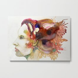 Flowing Thoughts Metal Print