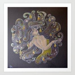 Pear Hair Art Print