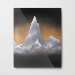 Snowcapped Mountains Metal Print