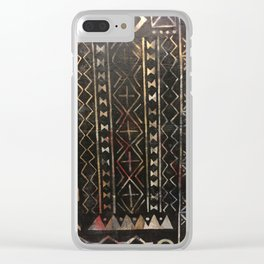 Golden Mud Cloth Clear iPhone Case