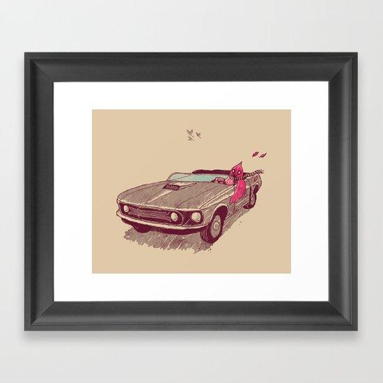Fear of Flying Framed Art Print