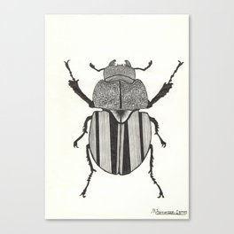 Graphic ekoxe stag beetle Canvas Print