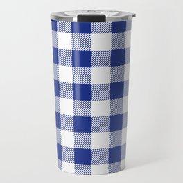 Gingham Holiday Blue Travel Mug