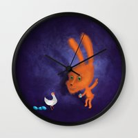easter Wall Clocks featuring easter by Laurel