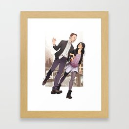 Walk and Talk Framed Art Print