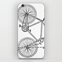 blueprint iPhone & iPod Skins featuring Bicycle Blueprint by BravuraMedia