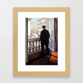 G. Caillebotte - Jeune homme à la fenêtre Framed Art Print