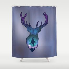 POTTER - PATRONUS ARTISTIC PAINT Shower Curtain