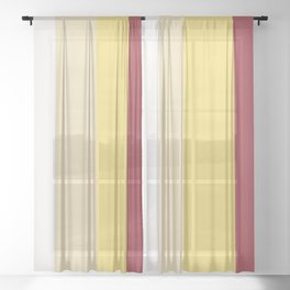 Color Combination. White, Vanilla Custard, Goldfinch, Scarlet Sage. Minimal Style. Solid Colors. Sheer Curtain