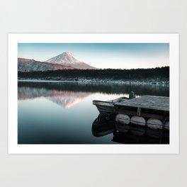 Peaceful Scenes from Mount Fuji Art Print