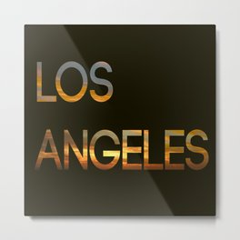 Los Angeles Sunset Tyography Metal Print