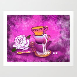 Cups and Pearls Art Print