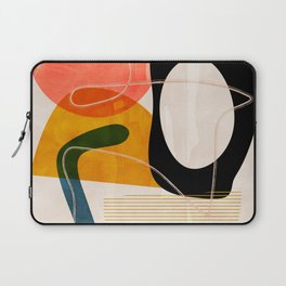 mid century shapes abstract painting Laptop Sleeve
