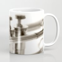 trumpet Mugs featuring trumpet by laika in cosmos