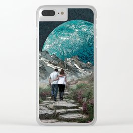 Moon Walk Clear iPhone Case