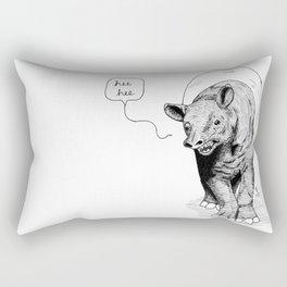 The happiest tapir Rectangular Pillow
