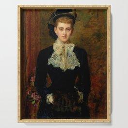 """John Everett Millais """"Countess de Pourtales, the former Mrs Sebastian Schlesinger"""" Serving Tray"""