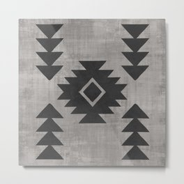 Aztec Tribal Metal Print