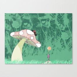 Tilly and the Ladybug Canvas Print