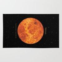 venus Area & Throw Rugs featuring Venus by Terry Fan