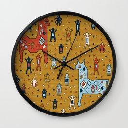 Tortuga in Yellow Wall Clock