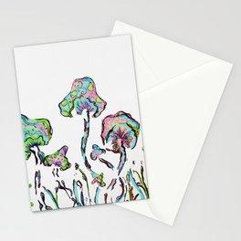 Rainbow mushrom forest Stationery Cards