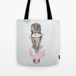 acrylic painting of girl with ball Tote Bag