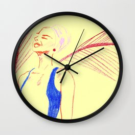 Where the Red Palms Grow Wall Clock