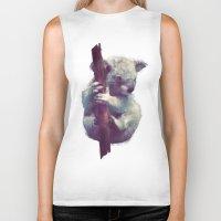 koala Biker Tanks featuring Koala by Amy Hamilton