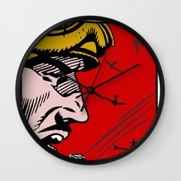 Three Red Fighters Wall Clock