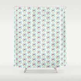 FlamingosTangled in Love Shower Curtain
