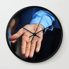 A Hand of Welcome Wall Clock