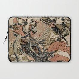 Hokusai, Aspara and the flute – musician manga, japan,hokusai,japanese,北斎,ミュージシャン Laptop Sleeve