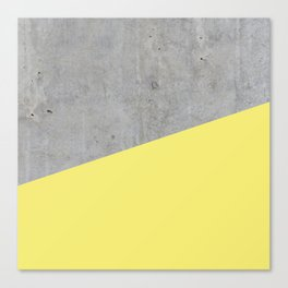 Concrete and Yellow Color Canvas Print