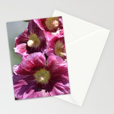 Hollyhock Flowers Stationery Cards