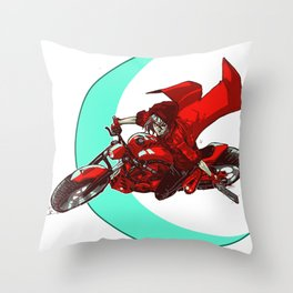 Robin and the Big Bad Wolf Throw Pillow