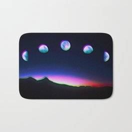Trippy Moon Phases in the Night Sky Bath Mat