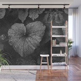 Grey Grey Heart Wall Mural