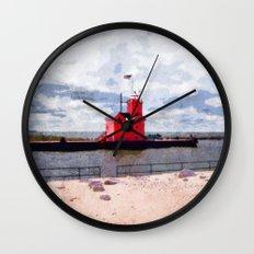 Lake Michigan Lighthouse Wall Clock