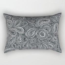 Paisley black and white pattern Rectangular Pillow