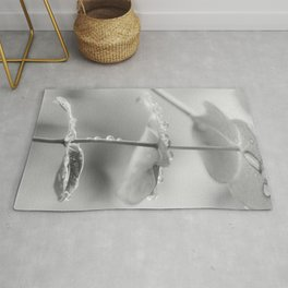 the art of peace (black and white) Rug
