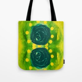 Lime Rose Tote Bag