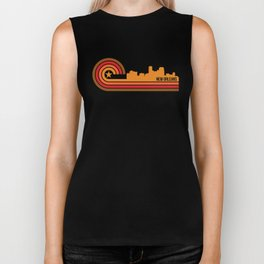 Retro New Orleans Louisiana Skyline Biker Tank