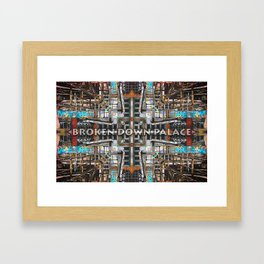 Broken Glass And Rusted Rails Framed Art Print