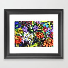 Trouble in paradise 1 Framed Art Print