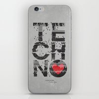 paramore iPhone & iPod Skins featuring I love Techno by Sitchko Igor