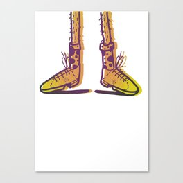 New Shoes! Forgot Trousers. Canvas Print