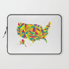Abstract America Bright Earth Laptop Sleeve