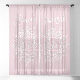 Namaste Soft Pink Sheer Curtain